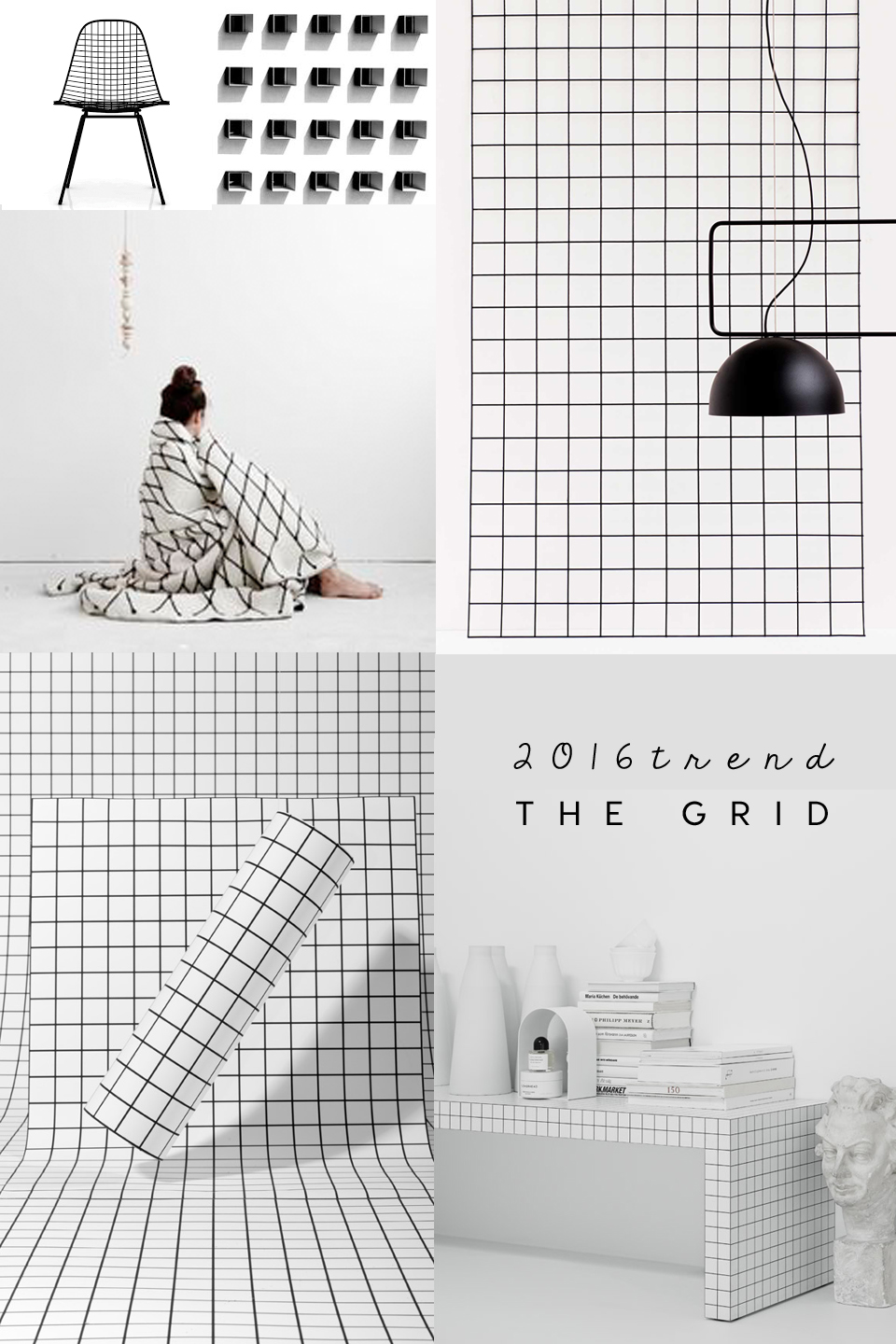 grid interior trend, grid design, grid pattern. grid black white, trendpotting 2016, interior trends 2016, ITALIANBARK interior design blog