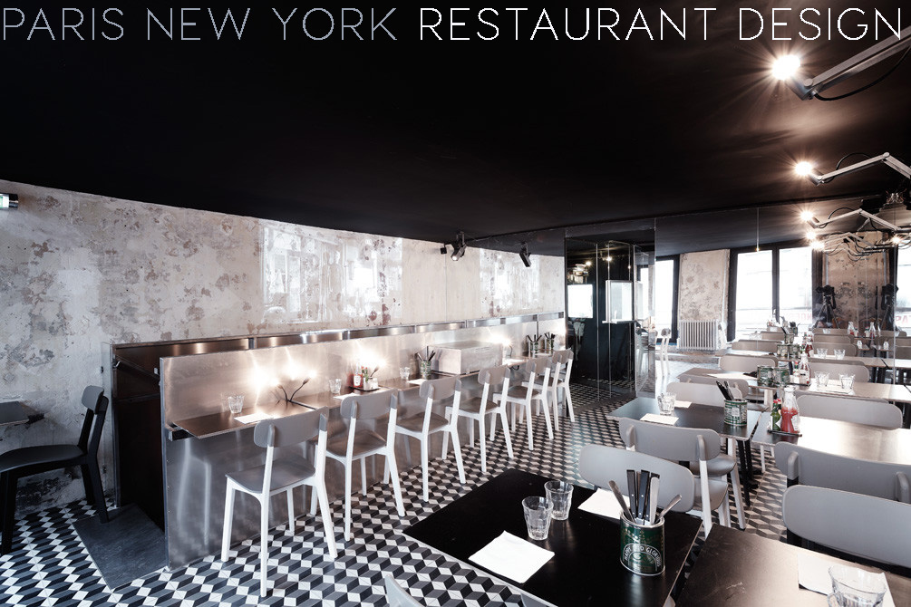 BLACK CEILING, BLACK CEILING INTERIOR, black restaurant design,paris new york burger, ITALIANBARK - interior design blog, RESTAURANT INTERIOR DESIGN