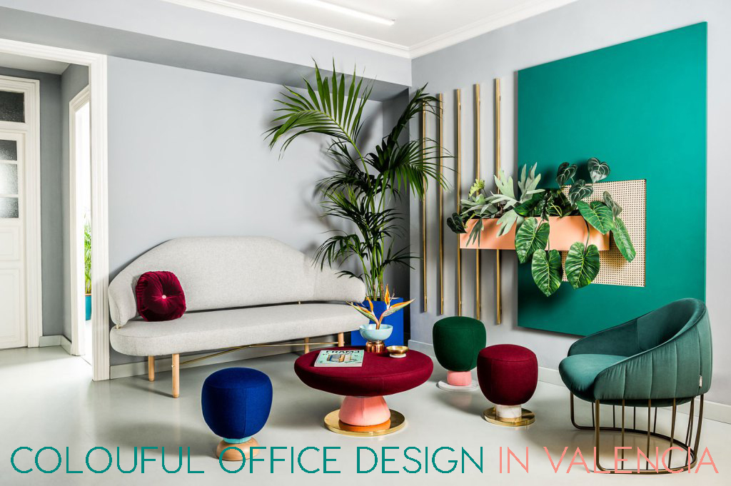 trendy office. DESIGN OFFICES | Trendy Office With Colours And Plants O