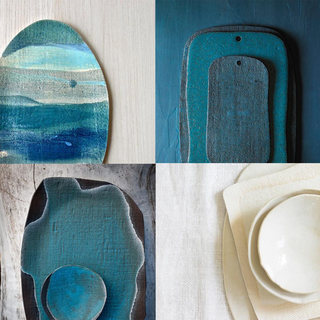 handmade-ceramics-ITALIANBARK-interiordesignblog, indigo ceramics, blue ceramics, indigo design, teal design