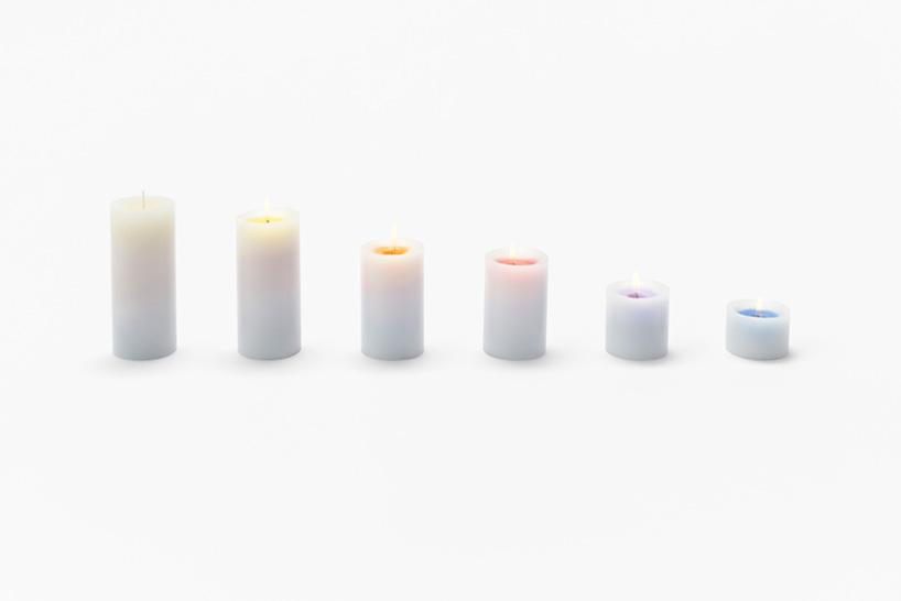nendo-sunset candles