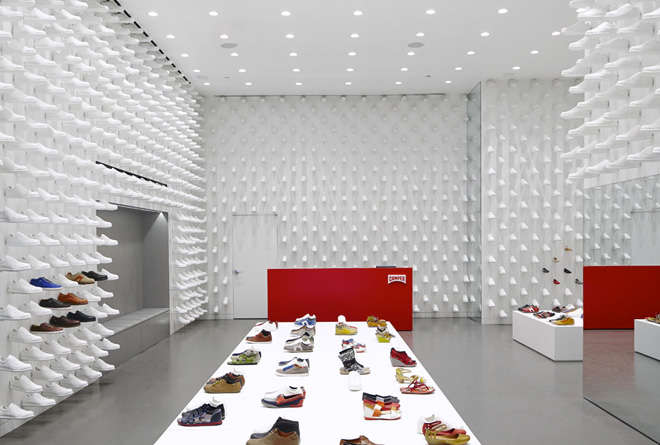 Camper shop design, Nendo camper, camper nyc, white shop design 4