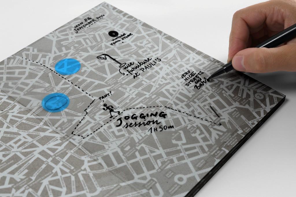 Transparent City - Travel map diary