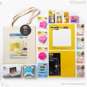 A' Design Award winners- italianbark, post it kit, post it press kit, press kit idea