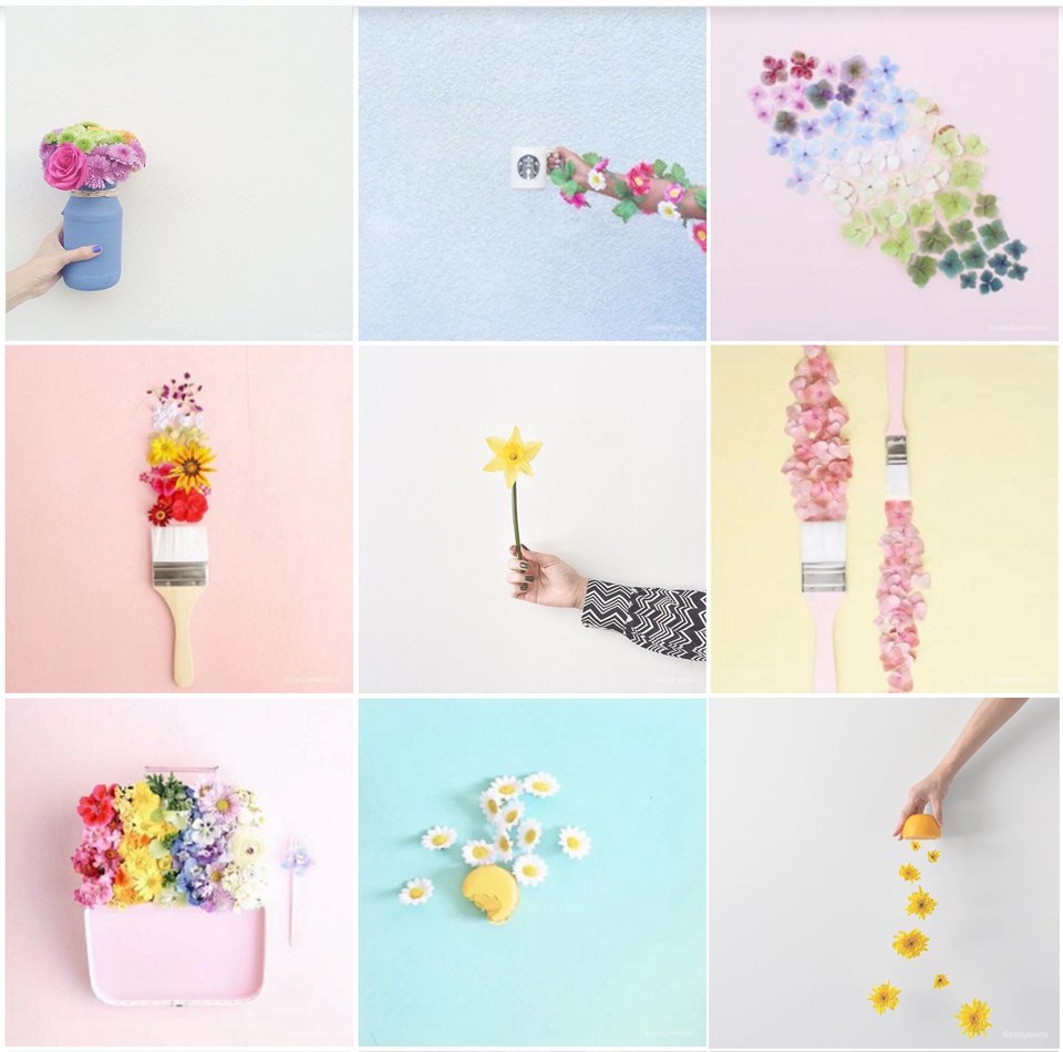 flowers on instagram, best instagram flowers, instagram best, designtime, instagram pastels, spring instagram, ITALIANBARK interior design blog
