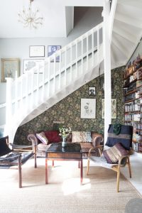 interior restyling tips, home before and after, scandinavian interior styling, , scandi living room, chesterfield leather, white staircase, living room restyling