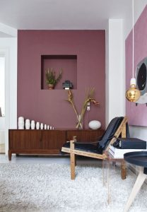 Coloured walls at home, wall painting ideas - ITALIANBARK, interior design blog, , pink wall, marsala wall