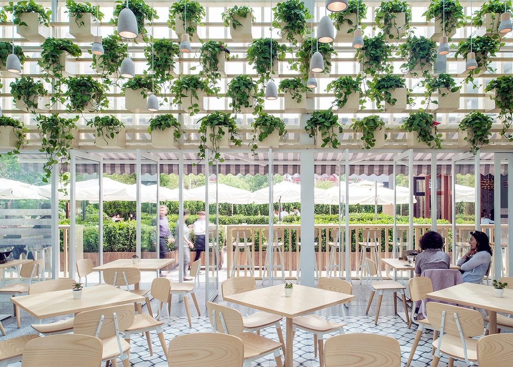 Four-O-Nine+converts+greenhouse+into+coffee+shop+in+Beijing