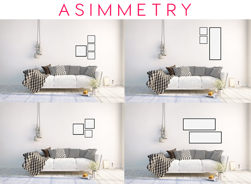 GALLERY WALL GUIDE ASYMMETRY