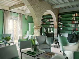 tuscan interiors, tuscan interiors style, italian interiors, italian home decor, italian style, interni toscana, italianbark interior design blog, rustic lving, green living, green paint, tuscan living