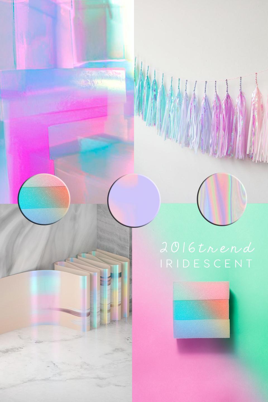 iridescent design trend