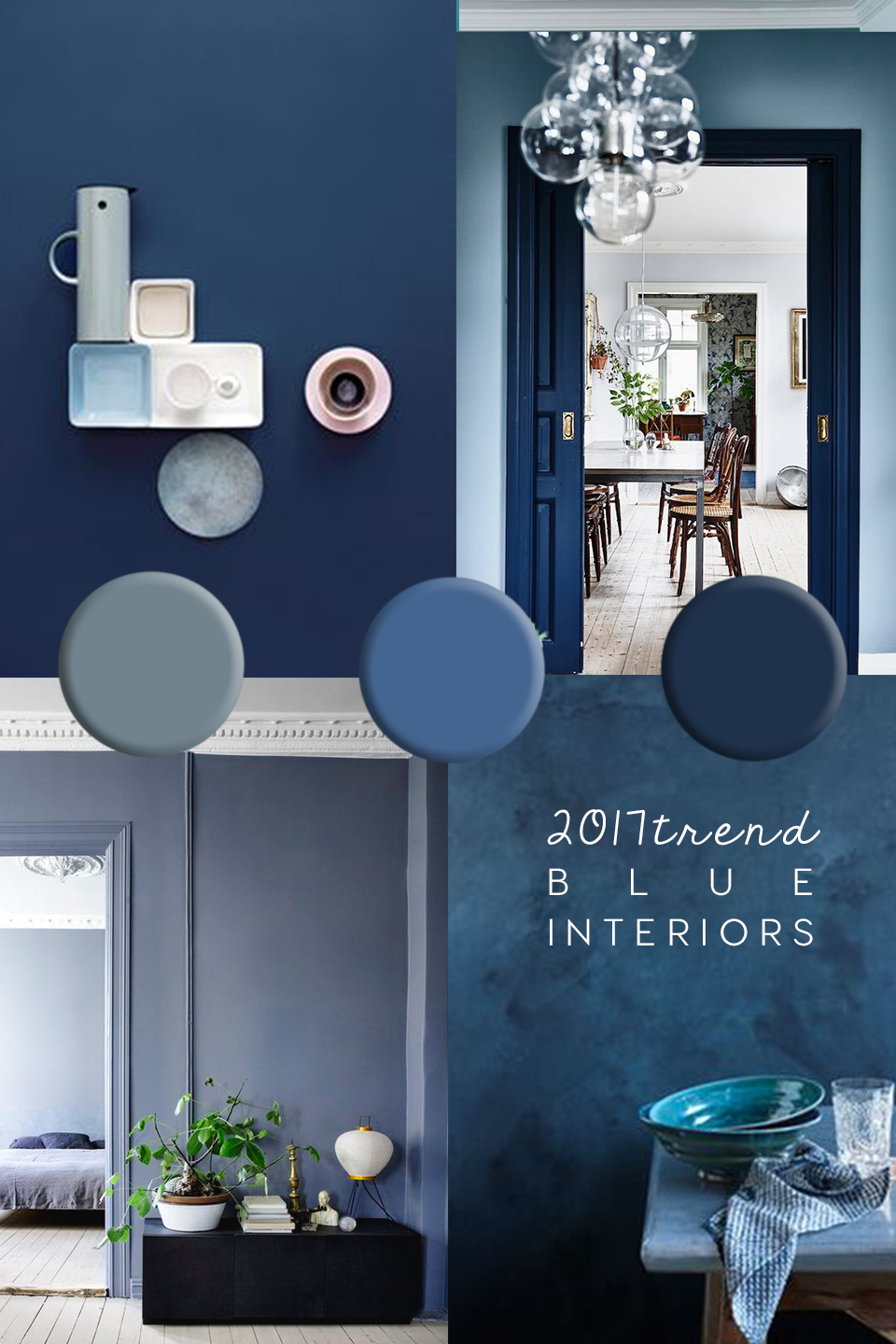 italianbark interior design blog, blue interior trend - blue interiors - blue walls - colour trends 2017 - colour 2017 - denim drift - colour of the year 2017 - blue paint trend - dulux denim drift