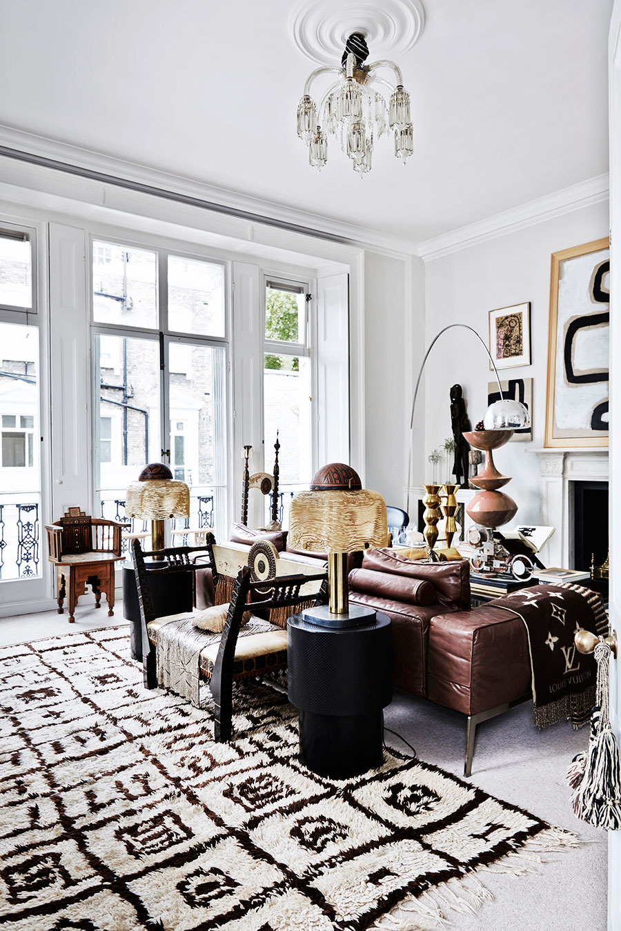 amazing boho chic interior in london by malene birger. Black Bedroom Furniture Sets. Home Design Ideas