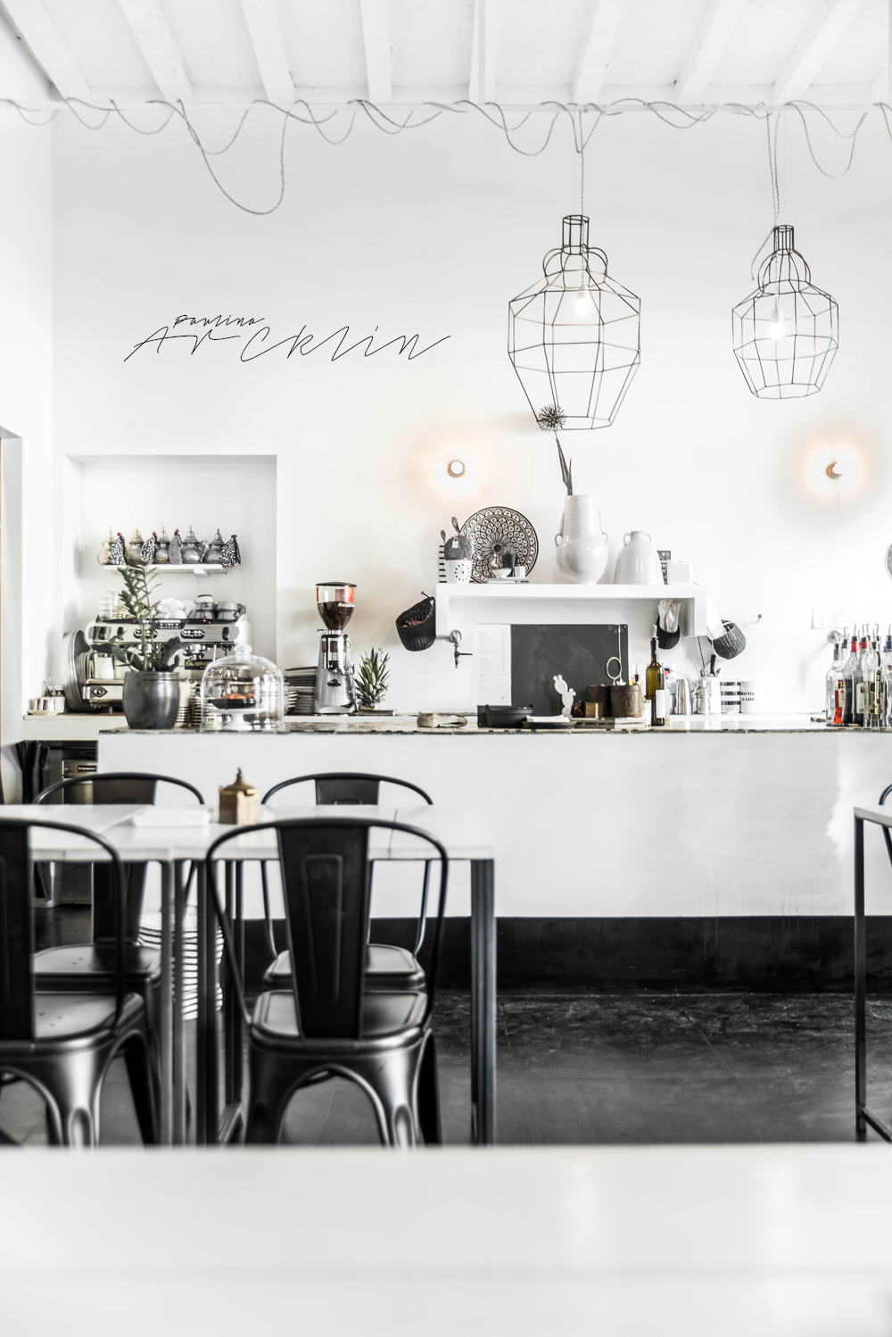 design restaurant in milan, italian interiors, italian interior design, italian design restaurant, paulina arcklin, riad food garden , black white restaurant design, ethnic chic, ethnic scandinavian, scandi boho, scandinavian style restaurant, tine k home, black white decor, black white counter
