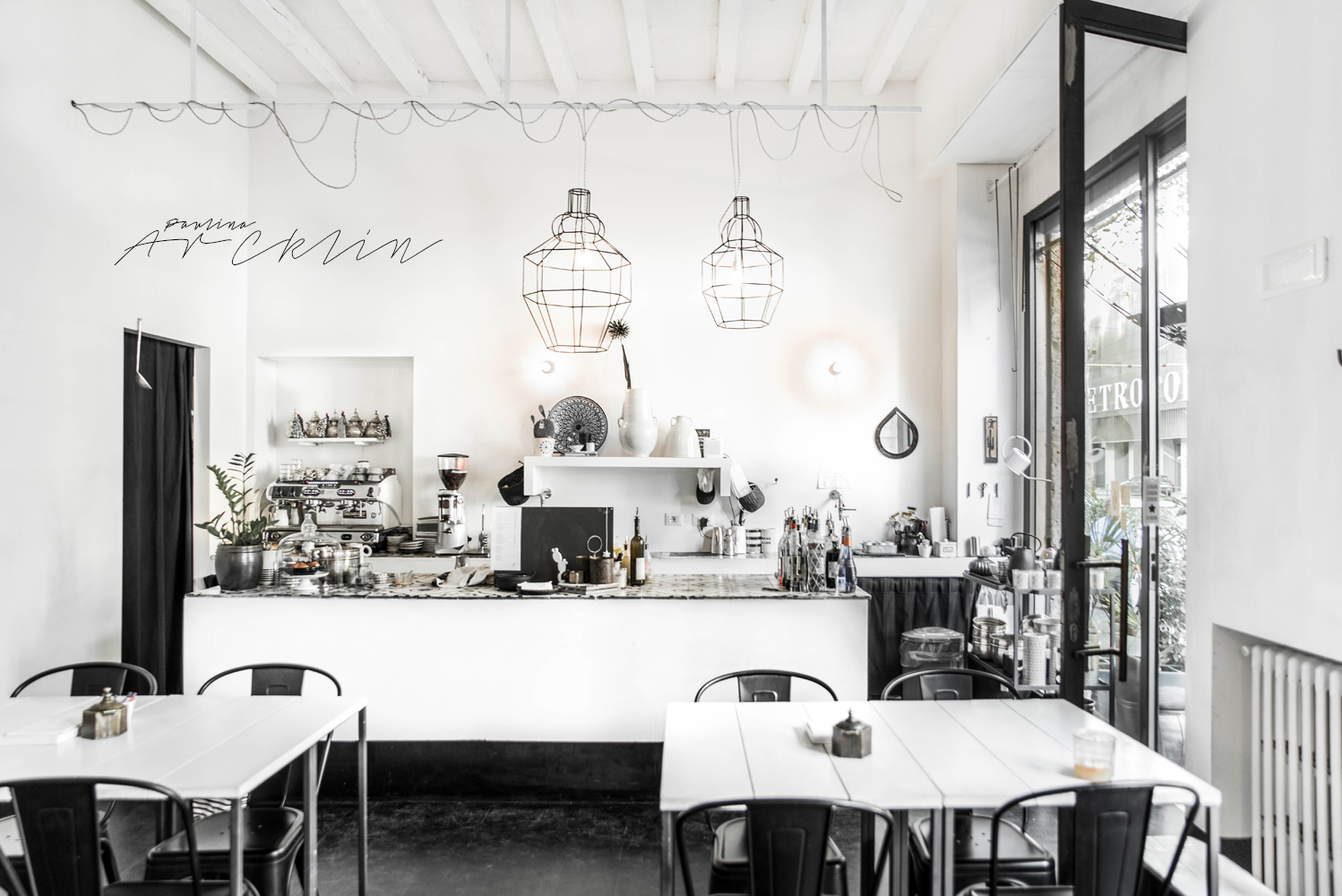 Italian interiors design restaurant milan with ethnic