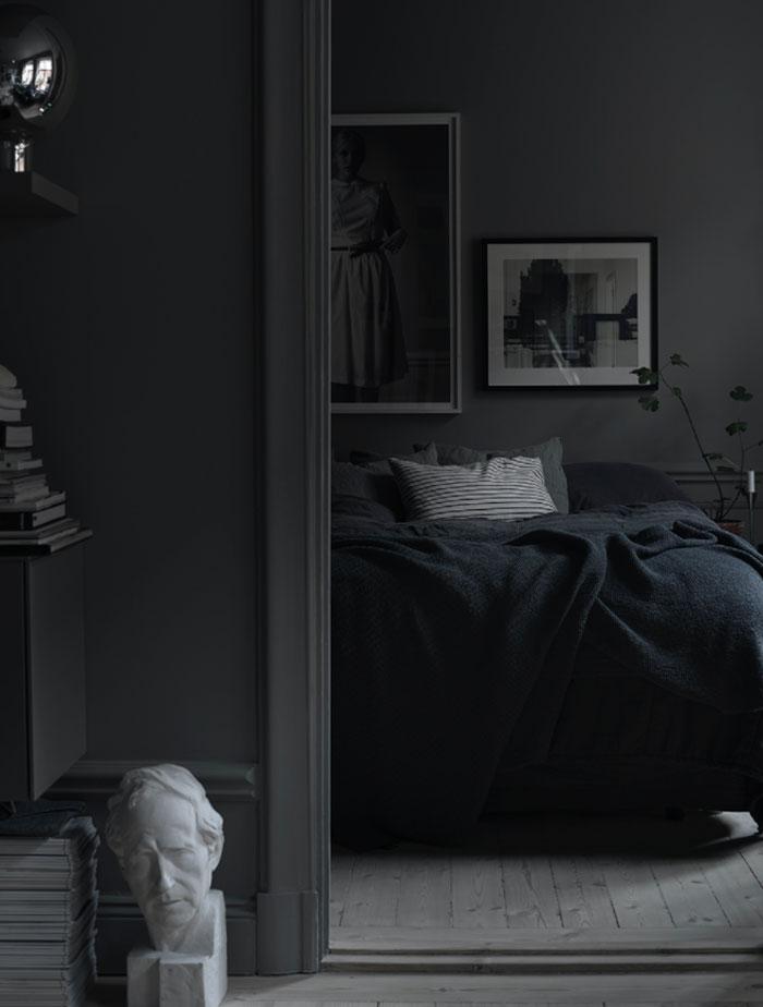 dark interiors, moody interior trend, black interiors, lotta agaton home, italianbark