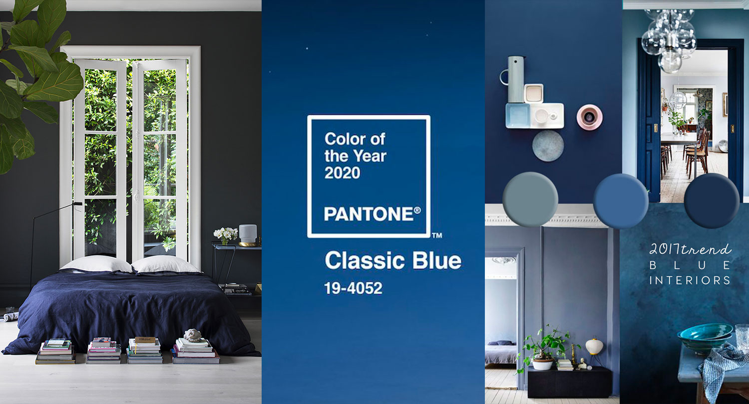 Blue Interior Trend Paint And Home Decor In Classic Blue Pantone 2020