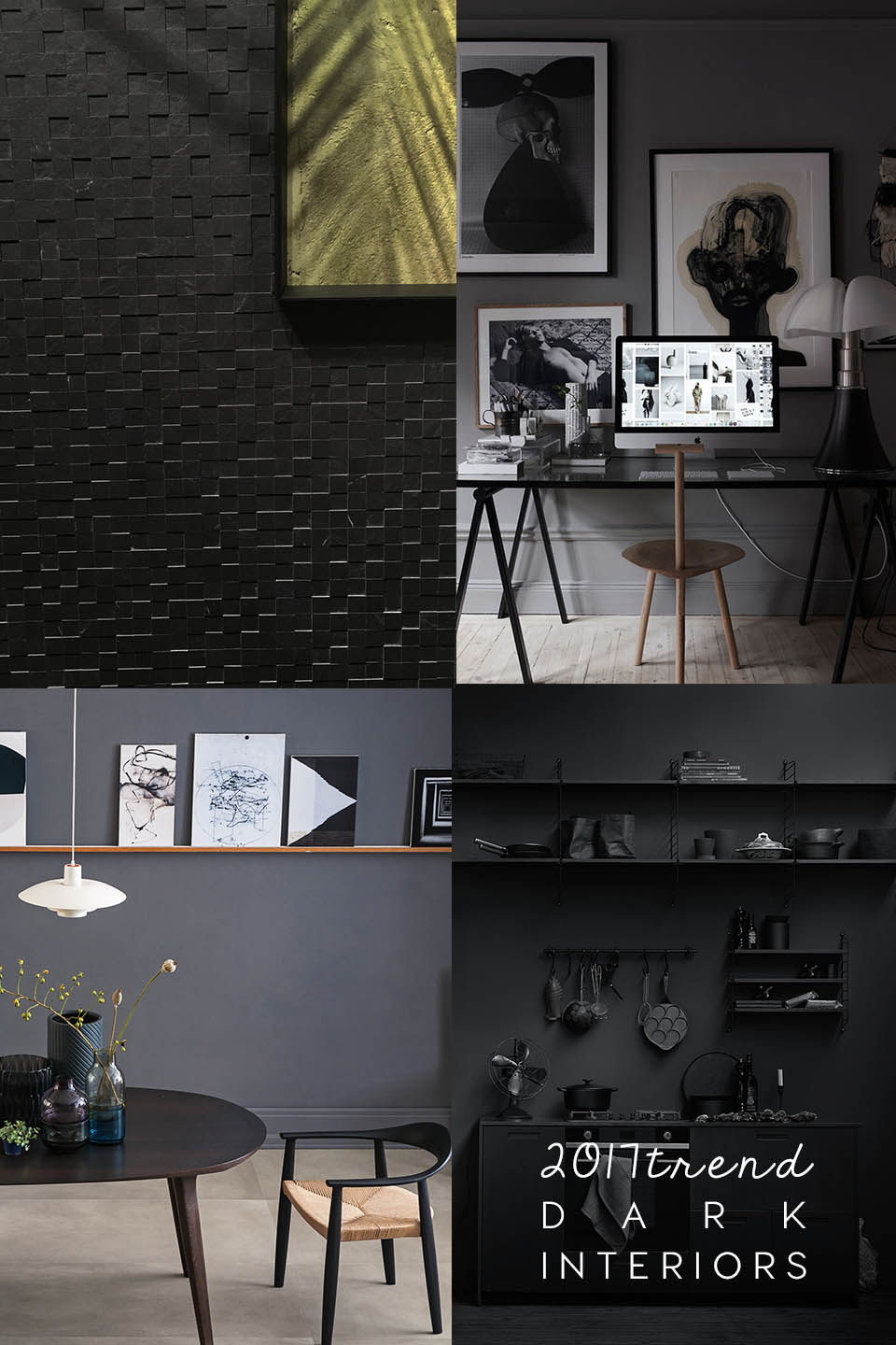 dark interiors, interior trends, italianbark interior design blog