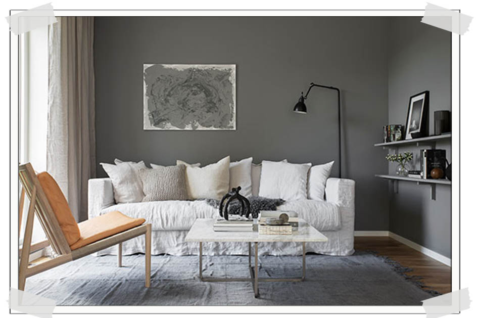 italianbark interior design blog, grey interior trend, grey wall paint