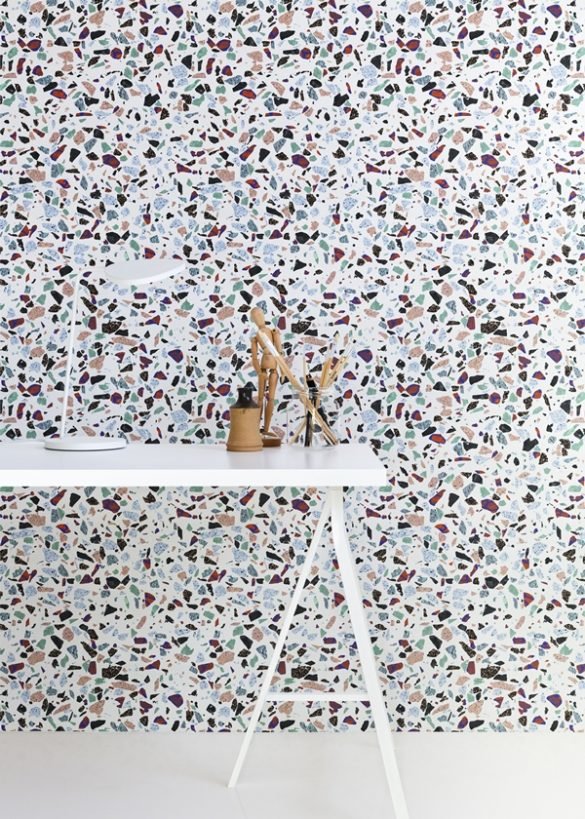 terrazzo trend, terrazzo wallpaper, terrazzo interiors, terrazzo design, italianbark interior design blog,