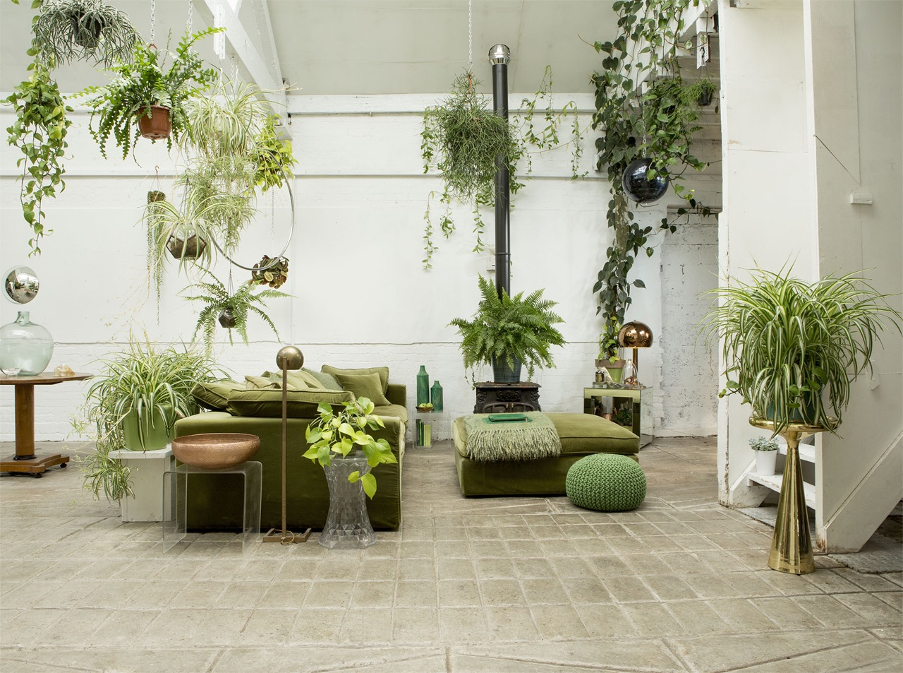 green loft london, green loft, indoor plants, indoor planters and pots, italianbark interior design blog