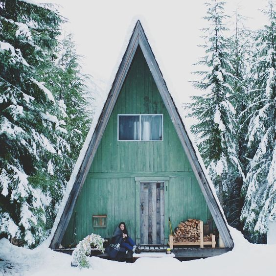small homes winter, home in the snow, wintertime mood, small homes heating, italianbark interior design blog