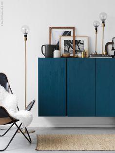 indigo blue brass interior