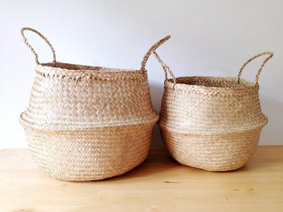 best etsy home decor shops, etsy interior and design, etsy resolutions, italianbark, handmade baskets,