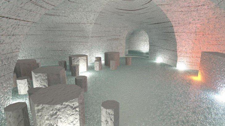 Langjökull Glacier ice cave