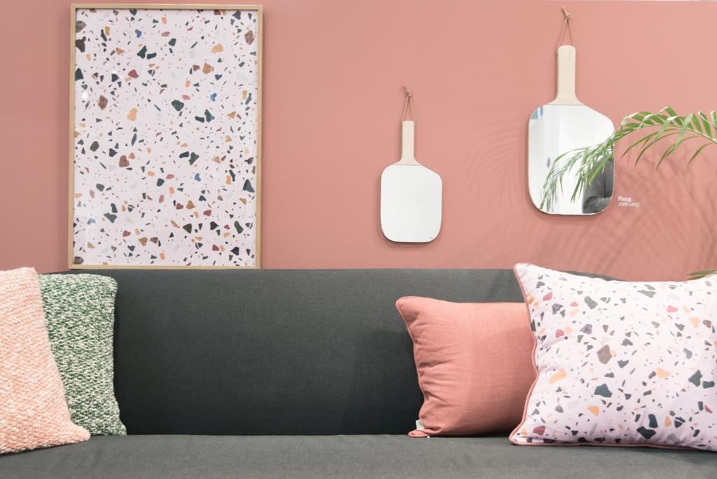 pink interior trend, interior trends 2017, maison et objet 2017, maison & objet trends, italianbark interior design blog, pink furniture, enostudio, terrazzo print