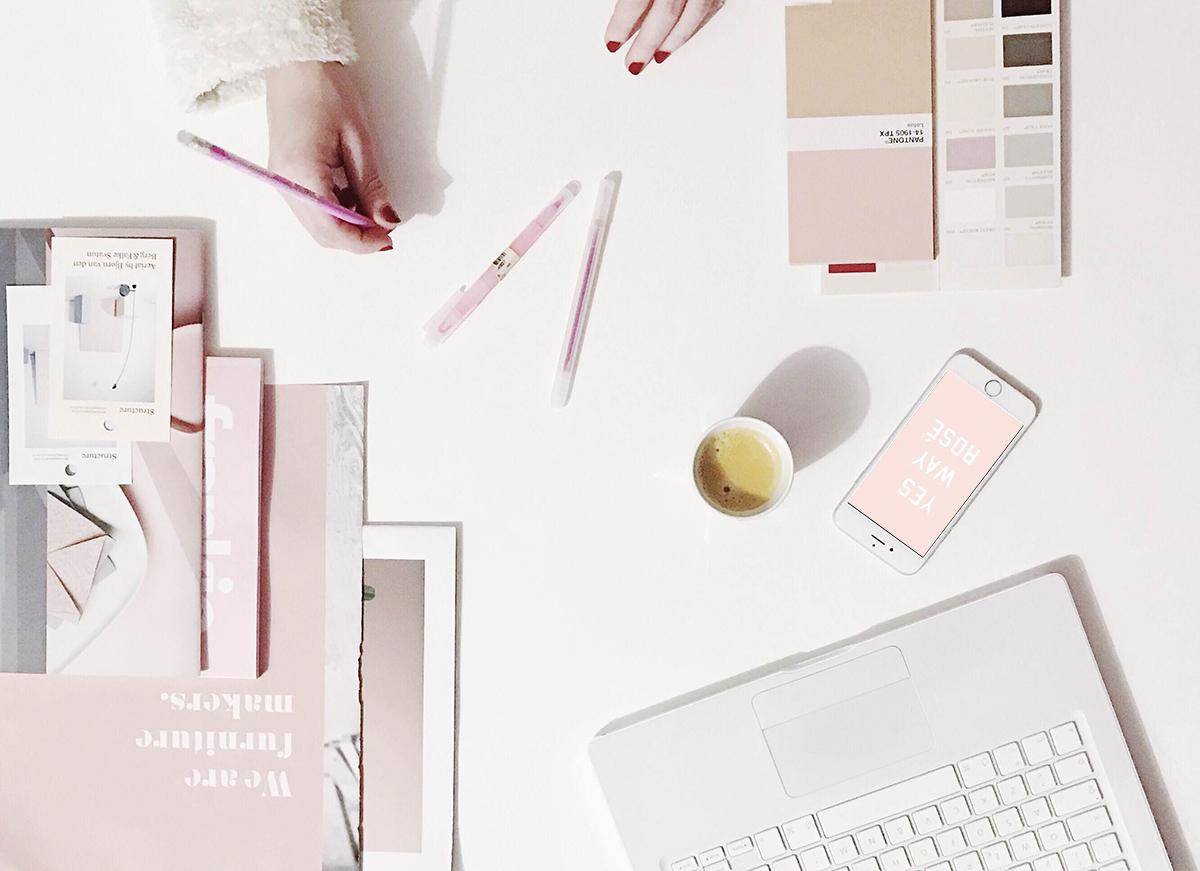 pink interior trend, interior trends 2017, maison et objet 2017, maison & objet trends, italianbark interior design blog, pink flatlay