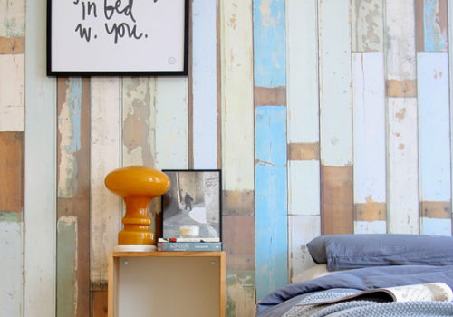 headboard wooden cladding