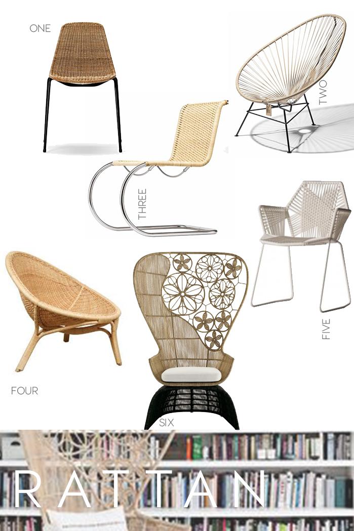 iconic seatings, design icons, chairs, black chairs design, rattan chairs, interior trends, italianbark interior design blog