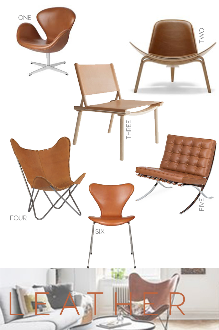 tan leather chairs, iconic seatings, design icons, chairs, leather accent chair, interior trends, italianbark interior design blog