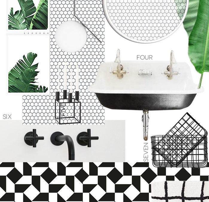geometric bathroom design, italianbark interior design blog