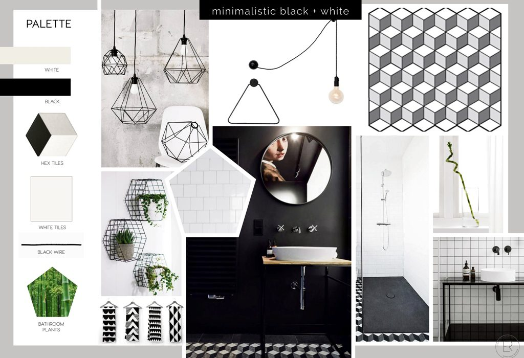 black white bathroom, minimalist bathroom style, black white tiles, small bathroom remodel, budget bathroom decor, small bathroom makeover