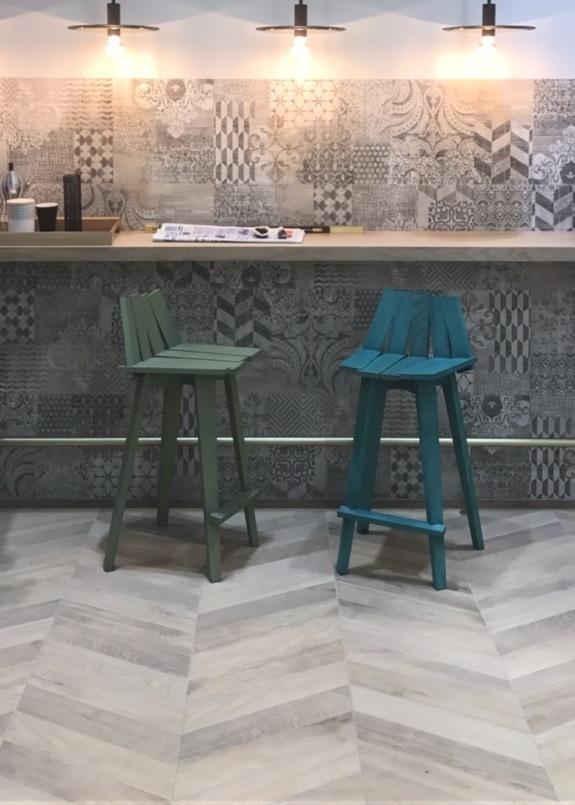 tile trends 2018, cersaie 2017 novità, italianbark, chevron pattern tiles