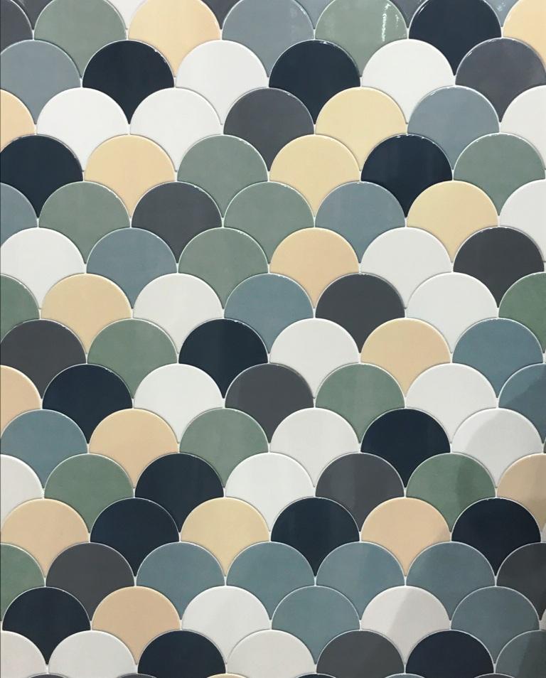 tile trends 2018, cersaie 2017 novità, italianbark, mermaid pattern tiles