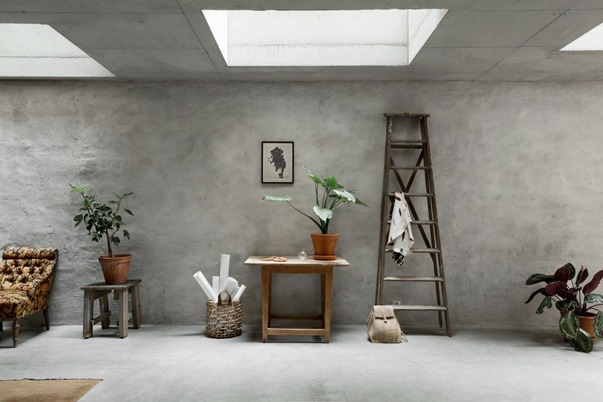Concrete Walls Interior Trend In A Scandinavian Home Tour