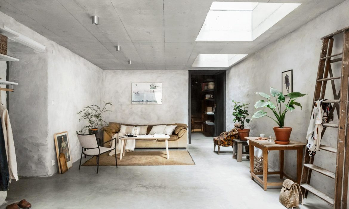 concrete walls interior trends, raw cement walls, scandinavian style interiors, decorate with concrete walls