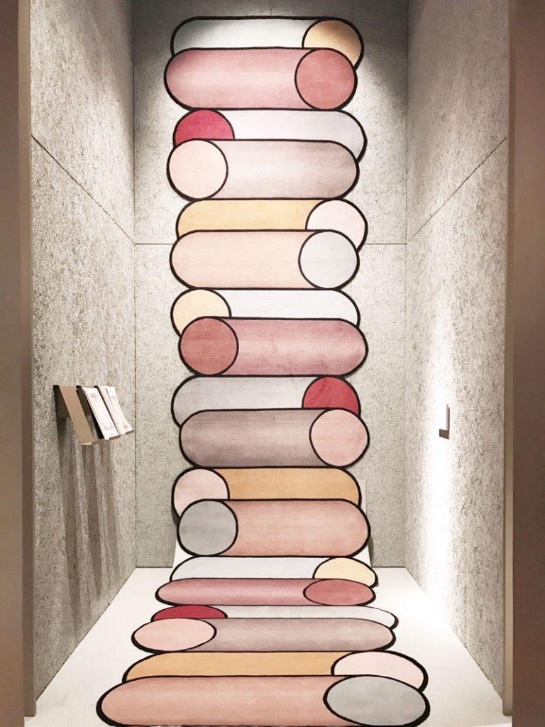 imm cologne 2018 trends, interior trends 2019, italianbark interior design blog, pastel interior trend, cc tapis rug urquiola