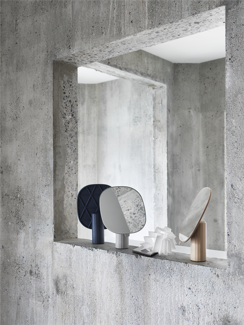imm cologne 2018 design news, muuto mimic mirror