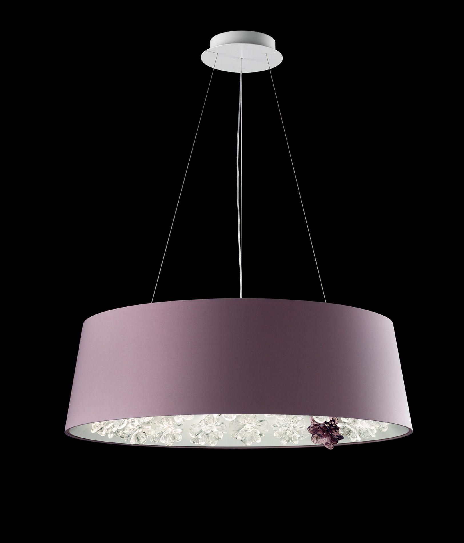 pantone 2018 design, ultraviolet decor, violet chandelier, barovier toso
