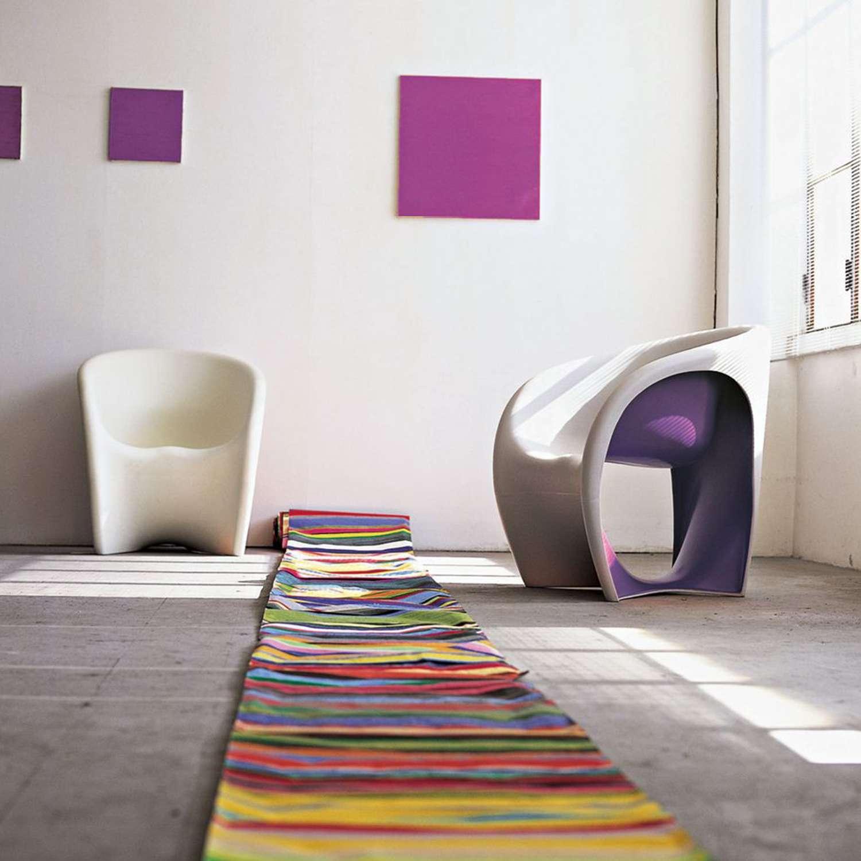 Driade, MT1 Armchair, pantone 2018 design, violet chair, armchair design