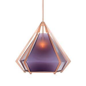 Harlow Pendant by Gabriel Scott, pantone 2018 design, violet lamp