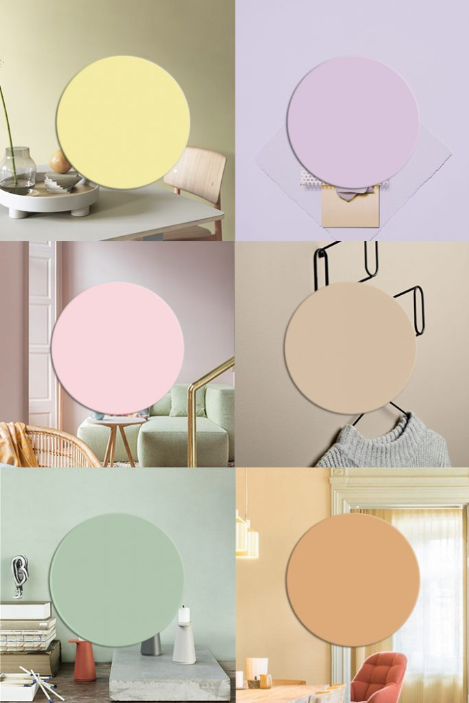 Interior color trends 2019 | Pastel interiors and more color trends