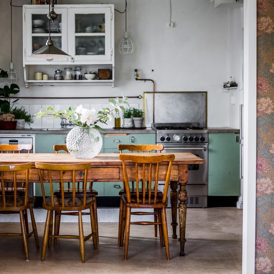 fabulous scandinavian country kitchen. @mohvkungsholmen, Photo By @henriknero Fabulous Scandinavian Country Kitchen D