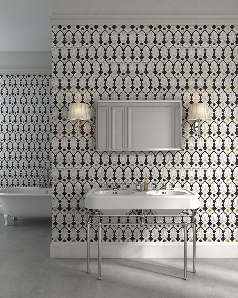 Uno Studio In Nero bathroom trend : black and white bathroom decor for a