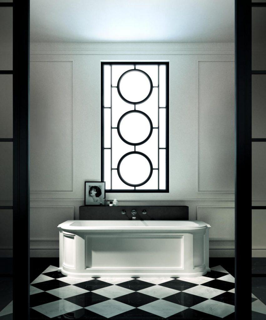 Bathroom trend black and white bathroom decor for a for Bathroom decor quiz