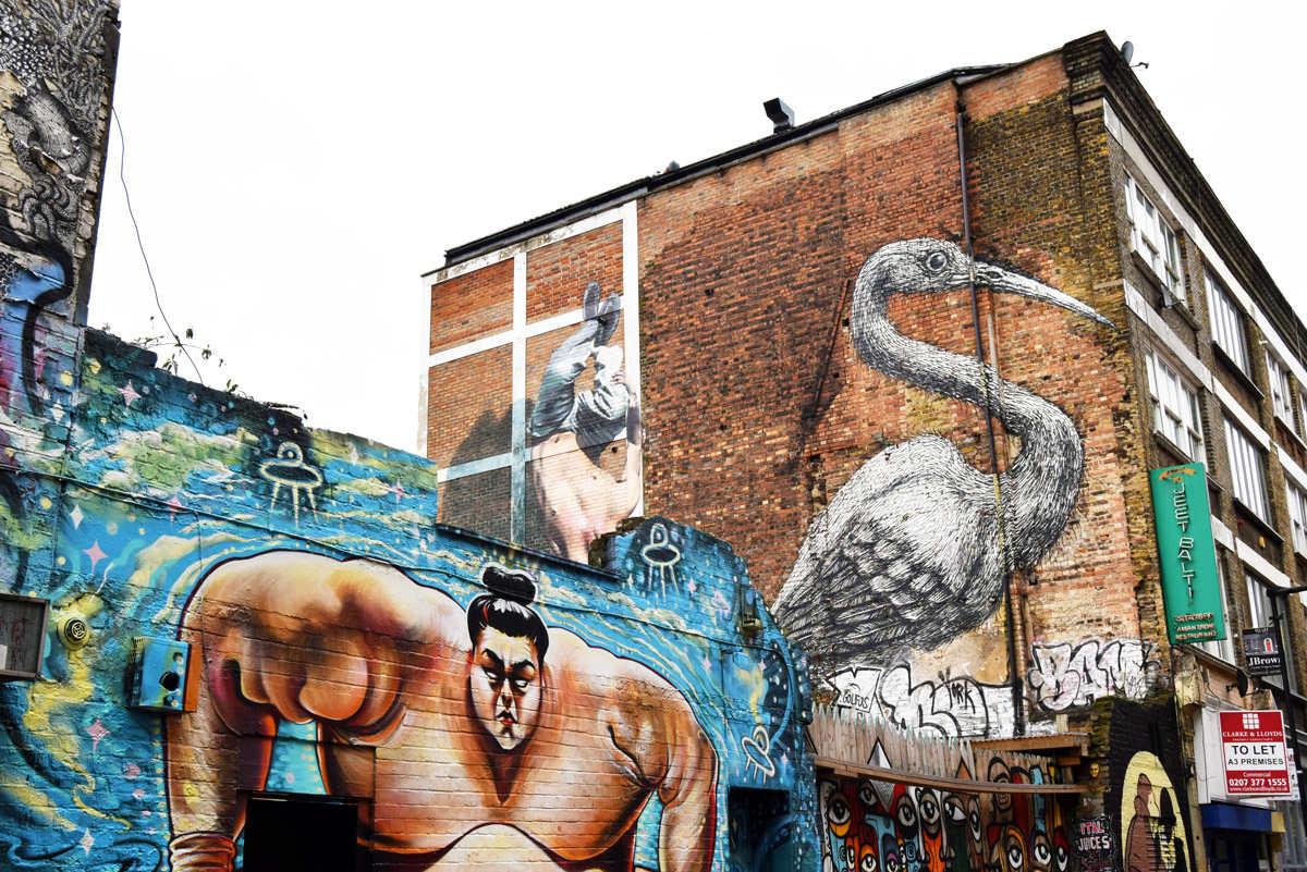 london shoreditch design guide, shoreditch street art